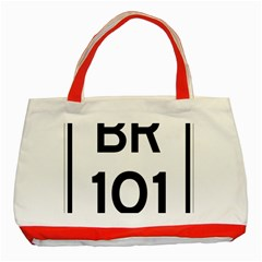 Brazil Br 101 Transcoastal Highway  Classic Tote Bag (red) by abbeyz71