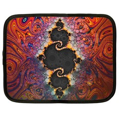 The Eye Of Julia, A Rainbow Fractal Paint Swirl Netbook Case (large) by jayaprime
