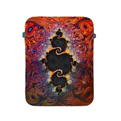 The Eye Of Julia, A Rainbow Fractal Paint Swirl Apple Ipad 2/3/4 Protective Soft Cases by jayaprime