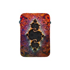 The Eye Of Julia, A Rainbow Fractal Paint Swirl Apple Ipad Mini Protective Soft Cases by jayaprime