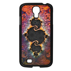 The Eye Of Julia, A Rainbow Fractal Paint Swirl Samsung Galaxy S4 I9500/ I9505 Case (black) by jayaprime