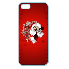 Funny Santa Claus  On Red Background Apple Seamless Iphone 5 Case (color) by FantasyWorld7