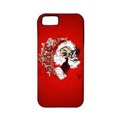 Funny Santa Claus  On Red Background Apple Iphone 5 Classic Hardshell Case (pc+silicone) by FantasyWorld7
