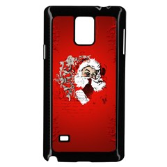 Funny Santa Claus  On Red Background Samsung Galaxy Note 4 Case (black) by FantasyWorld7