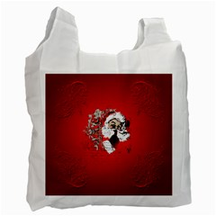 Funny Santa Claus  On Red Background Recycle Bag (one Side) by FantasyWorld7