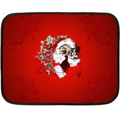 Funny Santa Claus  On Red Background Double Sided Fleece Blanket (mini)  by FantasyWorld7