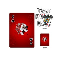 Funny Santa Claus  On Red Background Playing Cards 54 (mini)  by FantasyWorld7