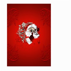 Funny Santa Claus  On Red Background Large Garden Flag (two Sides) by FantasyWorld7