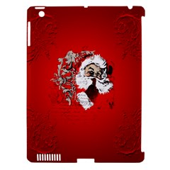 Funny Santa Claus  On Red Background Apple Ipad 3/4 Hardshell Case (compatible With Smart Cover) by FantasyWorld7
