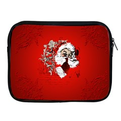 Funny Santa Claus  On Red Background Apple Ipad 2/3/4 Zipper Cases