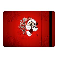 Funny Santa Claus  On Red Background Samsung Galaxy Tab Pro 10 1  Flip Case by FantasyWorld7