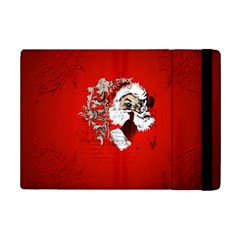 Funny Santa Claus  On Red Background Ipad Mini 2 Flip Cases by FantasyWorld7