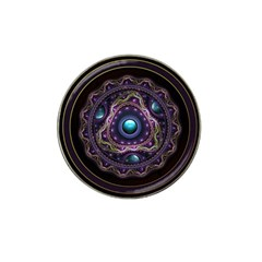 Beautiful Turquoise And Amethyst Fractal Jewelry Hat Clip Ball Marker (4 Pack) by jayaprime