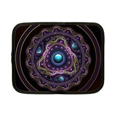 Beautiful Turquoise And Amethyst Fractal Jewelry Netbook Case (small)  by jayaprime