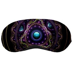 Beautiful Turquoise And Amethyst Fractal Jewelry Sleeping Masks