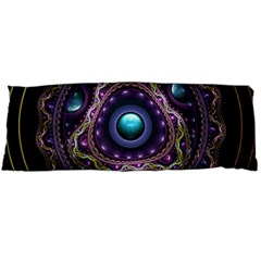 Beautiful Turquoise And Amethyst Fractal Jewelry Body Pillow Case Dakimakura (two Sides) by jayaprime