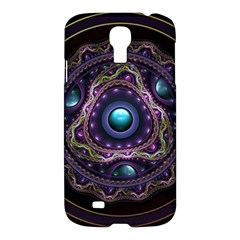 Beautiful Turquoise And Amethyst Fractal Jewelry Samsung Galaxy S4 I9500/i9505 Hardshell Case by jayaprime