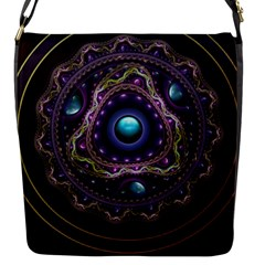 Beautiful Turquoise And Amethyst Fractal Jewelry Flap Messenger Bag (s) by jayaprime
