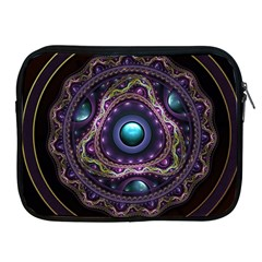Beautiful Turquoise And Amethyst Fractal Jewelry Apple Ipad 2/3/4 Zipper Cases by jayaprime