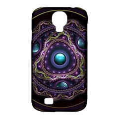 Beautiful Turquoise And Amethyst Fractal Jewelry Samsung Galaxy S4 Classic Hardshell Case (pc+silicone) by jayaprime