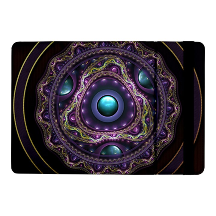 Beautiful Turquoise and Amethyst Fractal Jewelry Samsung Galaxy Tab Pro 10.1  Flip Case