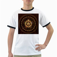 Gathering The Five Fractal Colors Of Magic Ringer T Shirts by jayaprime