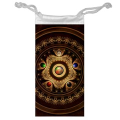 Gathering The Five Fractal Colors Of Magic Jewelry Bag by jayaprime