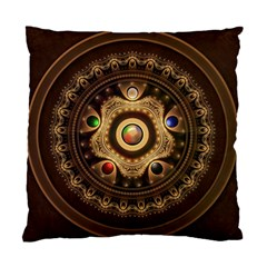 Gathering The Five Fractal Colors Of Magic Standard Cushion Case (one Side) by jayaprime