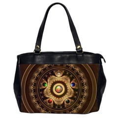 Gathering The Five Fractal Colors Of Magic Office Handbags (2 Sides)  by jayaprime