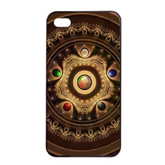 Gathering The Five Fractal Colors Of Magic Apple Iphone 4/4s Seamless Case (black) by jayaprime