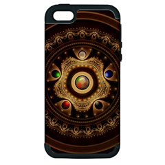 Gathering The Five Fractal Colors Of Magic Apple Iphone 5 Hardshell Case (pc+silicone) by jayaprime