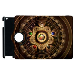 Gathering The Five Fractal Colors Of Magic Apple Ipad 2 Flip 360 Case by jayaprime