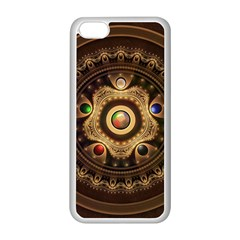 Gathering The Five Fractal Colors Of Magic Apple Iphone 5c Seamless Case (white) by jayaprime