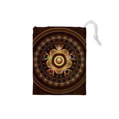 Gathering The Five Fractal Colors Of Magic Drawstring Pouches (small)  by jayaprime