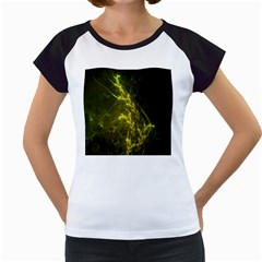 Beautiful Emerald Fairy Ferns In A Fractal Forest Women s Cap Sleeve T by jayaprime