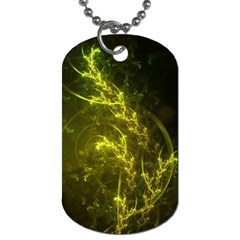 Beautiful Emerald Fairy Ferns In A Fractal Forest Dog Tag (one Side) by jayaprime