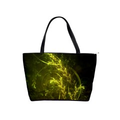 Beautiful Emerald Fairy Ferns In A Fractal Forest Shoulder Handbags by jayaprime