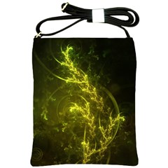 Beautiful Emerald Fairy Ferns In A Fractal Forest Shoulder Sling Bags by jayaprime