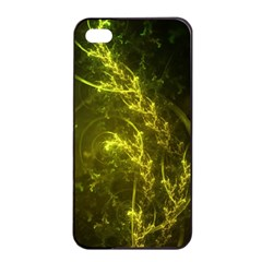 Beautiful Emerald Fairy Ferns In A Fractal Forest Apple Iphone 4/4s Seamless Case (black) by jayaprime