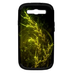 Beautiful Emerald Fairy Ferns In A Fractal Forest Samsung Galaxy S Iii Hardshell Case (pc+silicone) by jayaprime