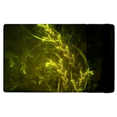 Beautiful Emerald Fairy Ferns In A Fractal Forest Apple Ipad 2 Flip Case by jayaprime