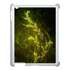 Beautiful Emerald Fairy Ferns In A Fractal Forest Apple Ipad 3/4 Case (white) by jayaprime