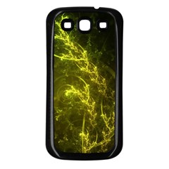 Beautiful Emerald Fairy Ferns In A Fractal Forest Samsung Galaxy S3 Back Case (black) by jayaprime