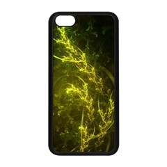 Beautiful Emerald Fairy Ferns In A Fractal Forest Apple Iphone 5c Seamless Case (black) by jayaprime