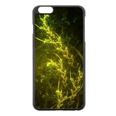 Beautiful Emerald Fairy Ferns In A Fractal Forest Apple Iphone 6 Plus/6s Plus Black Enamel Case by jayaprime