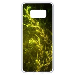 Beautiful Emerald Fairy Ferns In A Fractal Forest Samsung Galaxy S8 White Seamless Case by jayaprime