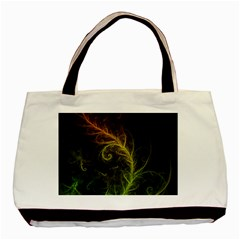 Fractal Hybrid Of Guzmania Tuti Fruitti And Ferns Basic Tote Bag by jayaprime