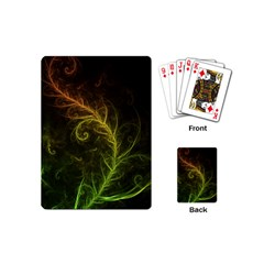 Fractal Hybrid Of Guzmania Tuti Fruitti And Ferns Playing Cards (mini)  by jayaprime