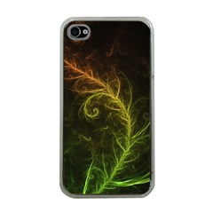 Fractal Hybrid Of Guzmania Tuti Fruitti And Ferns Apple Iphone 4 Case (clear) by jayaprime