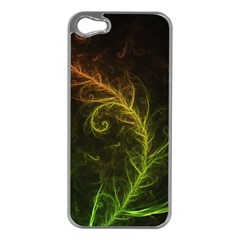 Fractal Hybrid Of Guzmania Tuti Fruitti And Ferns Apple Iphone 5 Case (silver) by jayaprime
